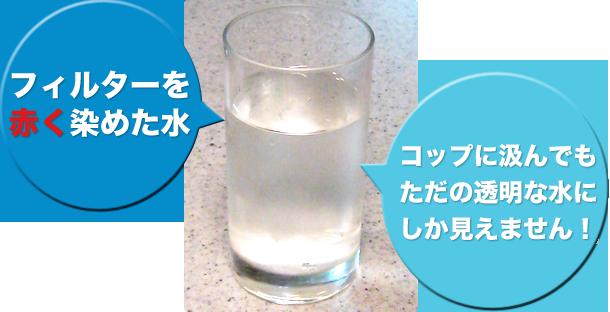 浄水器を通した水